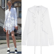 17SS G135 LOOK3 NEW PEARL EMBELLISHED SILK BLOUSE