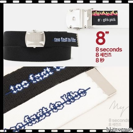 8 SECONDS x G-Dragon * lettering patches webbing belt *