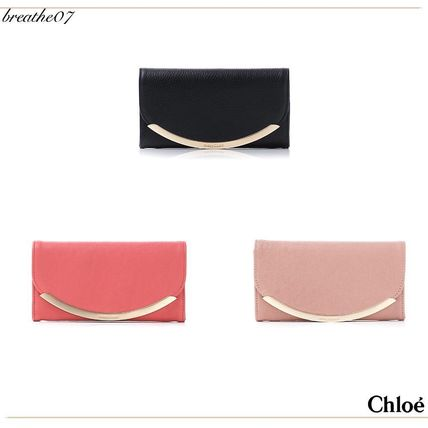 Chloe LIZZIE LEATHER coin purse with flap long wallet /