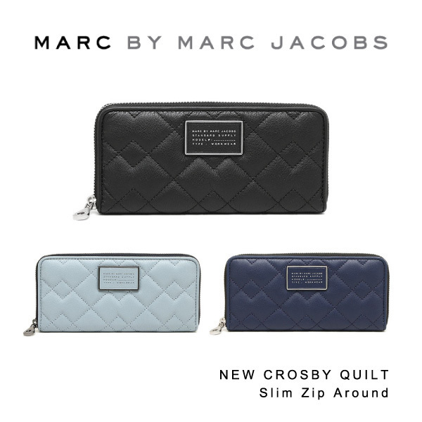 Marc by MarcJacobs NEW CROSBY QUILT Slim Zip Around M0007656