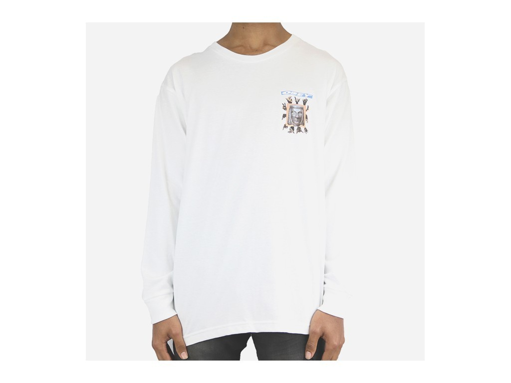 OBEY ARTIFACTS L/S TEE-WHT