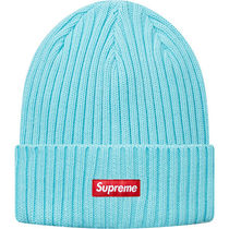 17S/S Supreme Overdyed Ribbed Beanie Ice Blue