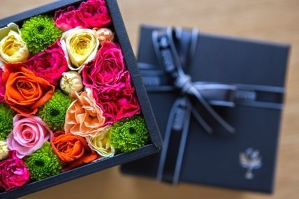 Flower box father's day gift black box mix