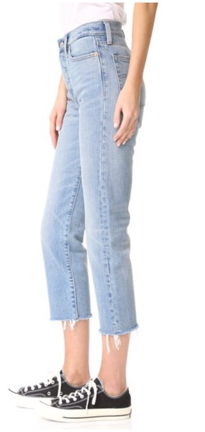 Bella Hadid着用☆お早めに Levi's Wedgie Straight Jeans