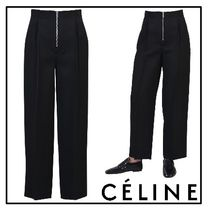 2017SS◆CELINE(セリーヌ)◇Fluid diagonal suiting trousers