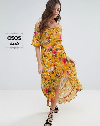* Boohoo * * FLORAL Bardot Maxi dress