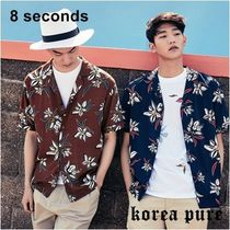 8 SECONDS(エイトセカンズ) シャツ GD着用!【8SECONDS】Flower Pajama Shirt GD Collaboration