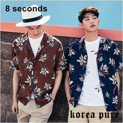 8 SECONDS シャツ GD着用!【8SECONDS】Flower Pajama Shirt GD Collaboration