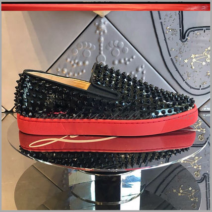 Christian Louboutin SS17 black metal series spiked with