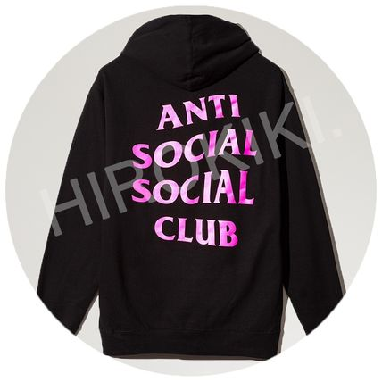 S-XXL size Anti Social Social Club Hoodie ASSC Hooded black