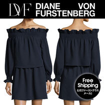 お買得★DVF★ Georgie Off-the-Shoulder Popover ミニドレス
