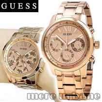 SALE GUESS Womens Sporty Rose Gold Tone Watch U0330L2