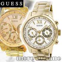 SALE GUESS Womens Sporty Gold Tone Stainless Watch U0330L1