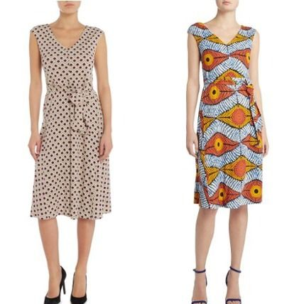 Max Mara Bu V neck Jersey print dress