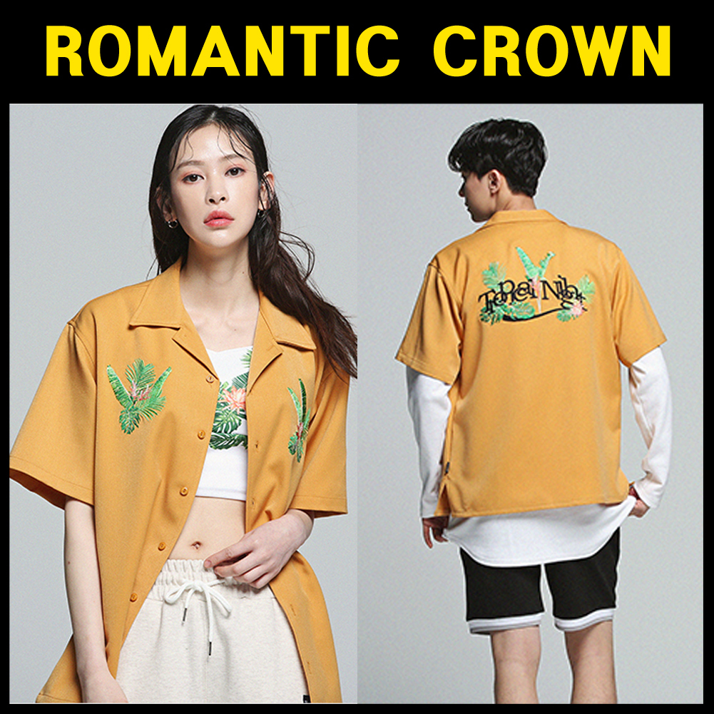 ROMANTIC CROWN★Tropical Night Shirt_Mustard