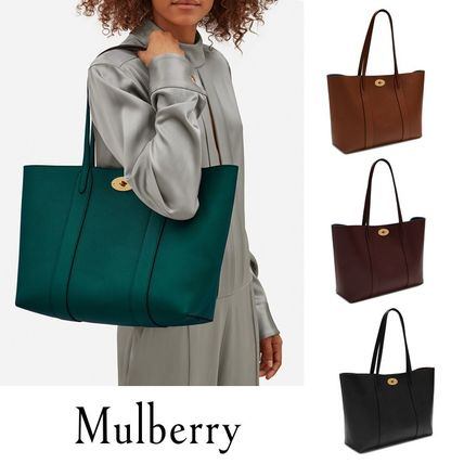 Mulberry トートバッグ 英国発☆Mulberry☆新作☆Bayswater トート☆ポーチ付き