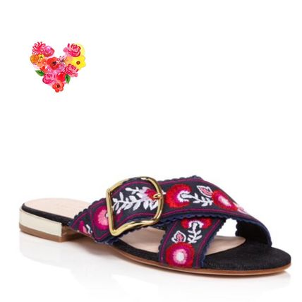 kate spade new york シューズ・サンダルその他 ☆関税込☆Kate Spade Faris Embroidered Slide Sandals☆セール