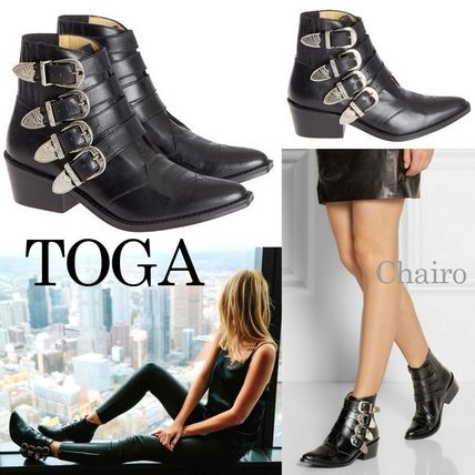 TOGA buckle closure leather ankle boots