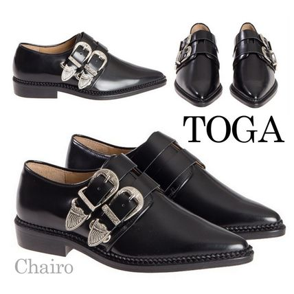 TOGA buckle closure leather Oxford shoes