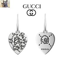 Gucci Sterling Silver Gucci Ghost Heart ピアス