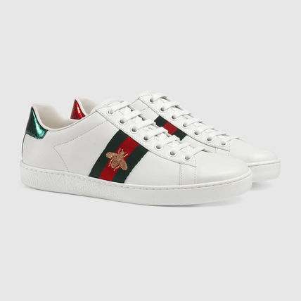 GUCCI embroidery with the inspired sneakers white
