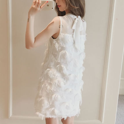 2 color-gorgeous fluffy material a-line chiffon dress