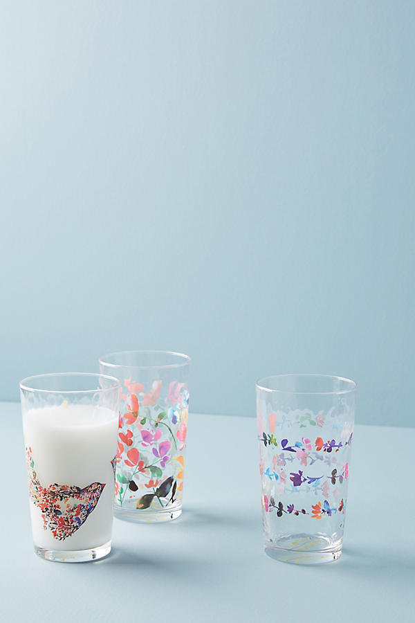 17SS☆最安値保証*関送込【Anthro】Jubilation Juice Glass 3点
