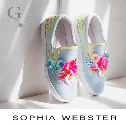 Pumping and SOPHIA WEBSTER Lilico Sequin Adele sneakers blue