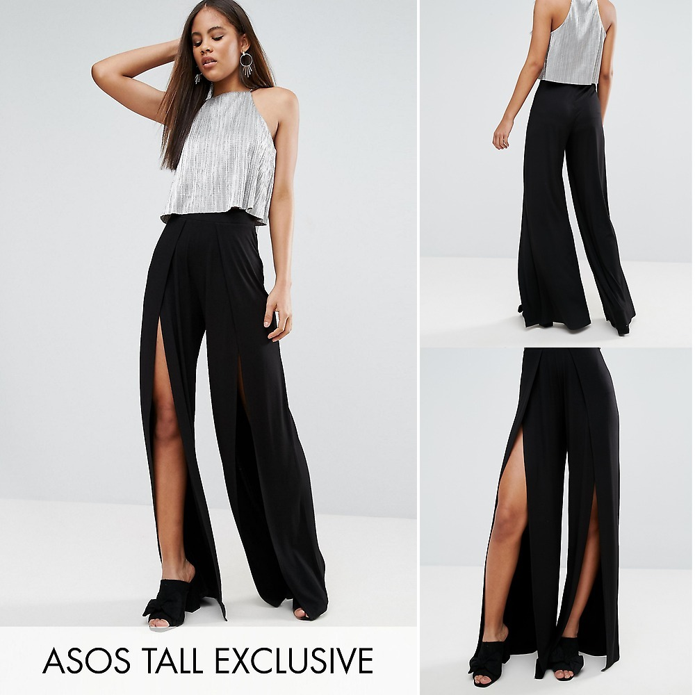★送関込★ASOS TALL Wide Leg Trousers With Split Front