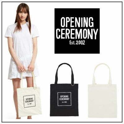 Opening Ceremony logo tote bag and
