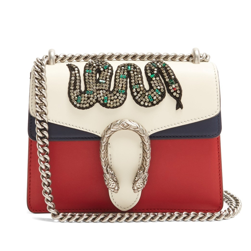GUCCI mini embellished leather cross-body bag 関税送料込
