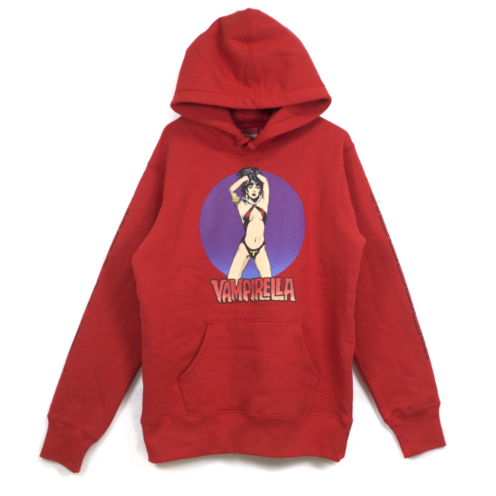 赤 Red Supreme × Vampirella Hooded Sweatshirt パーカー box