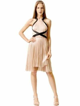 PLEATED SILK TULLE DRESS