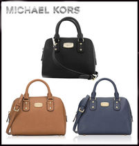 MICHAEL KORS★ SAFFIANO SMALL SATCHEL 国内発送!関税込み!