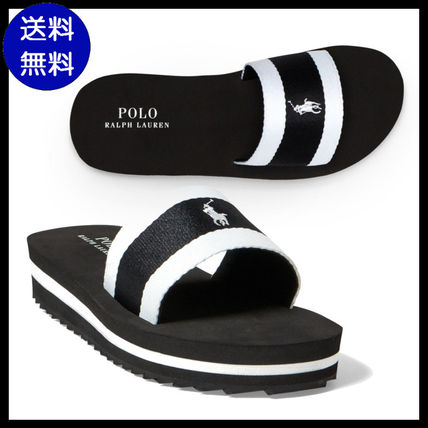 Ralph Lauren shower Sandals adults and put it to