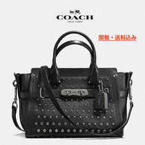 COACH★スワッガー☆SWAGGER 21 CARRYALL IN PEBBLE LEATHER♪