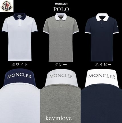 MONCLER men's Polo shirts up the collar on, determined to