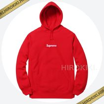 【16AW】Mサイズ★Supreme Box Logo Hooded Sweatshirt  Red 赤