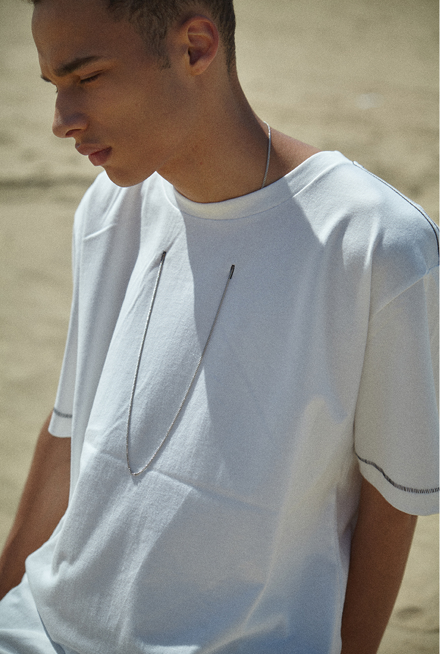 ◇INDIGO CHILDREN◇17ss NECKLACE PUNCHING T (ネックレス付)