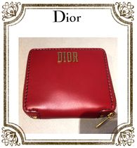 Christian Dior★Compact Wallet★Dark Red