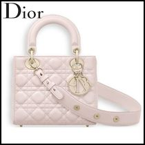 "Christian Dior★パウダーピンク ラムスキン ""Lady Dior"" バッグ"