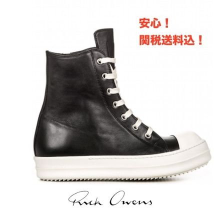 RICK OWENS Hi-Top leather sneaker 17 SS