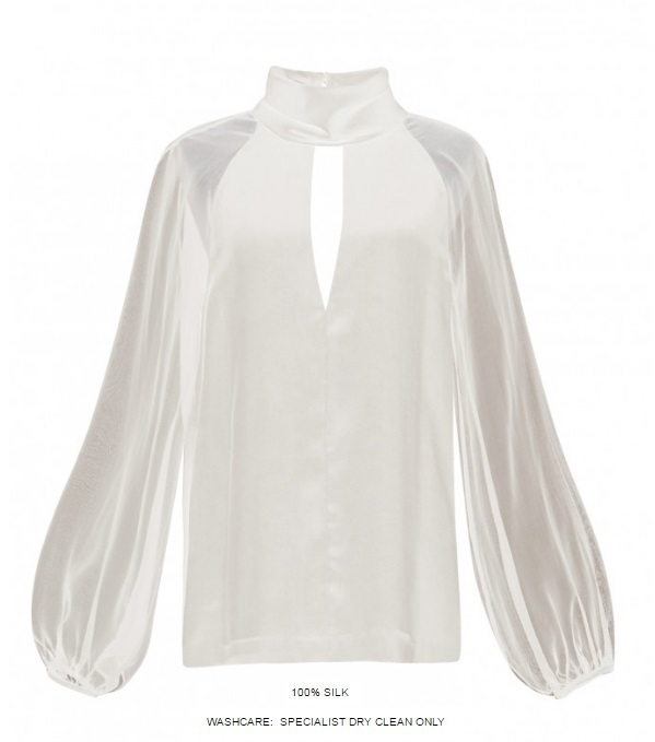 Vatanika Silk Turtle-Necked Blouse (New)