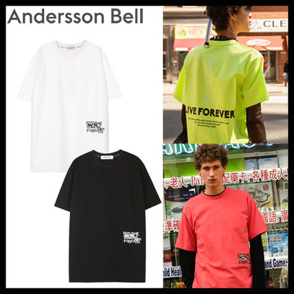 [AnderssonBell][DHL発送] UNISEX LIVE FOREVER T-SHIRT atb145u