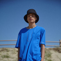 INDIGO CHILDREN(インディゴチルドレン) Tシャツ・カットソー ◇INDIGO CHILDREN◇17ss NECKLACE PUNCHING T-SHIRT (Blue)