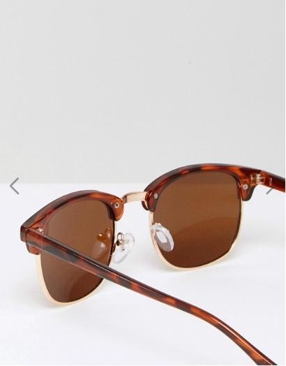 ASOS Classic Retro Sunglasses With Polarised Lens