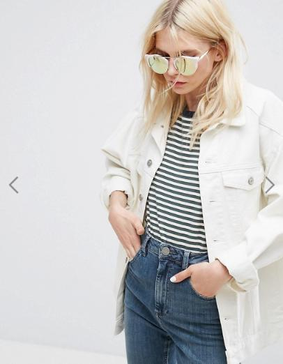 ASOS Rose Gold High Bar Retro Sunglasses