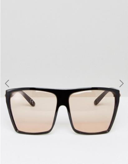 ASOS Oversized Square Sunglasses With Pale Brown Lens