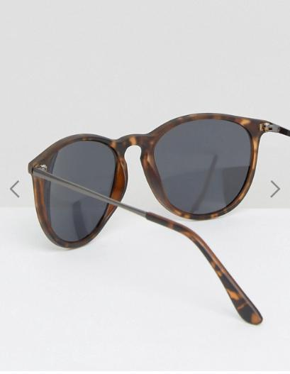ASOS 2 Pack Skinny Keyhole Retro Sunglasses Clear