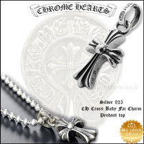【定番人気】Chrome Hearts CH CROSS BABY FAT CHARM 正規証明付